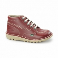 KICK HI Kids Leather Boots Red