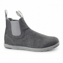 1420 Mens Canvas Chelsea Boots Black Wash