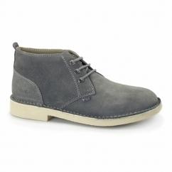 LEGENDARY Mens Suede Desert Boots Grey/Nat