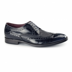 PALETTA Mens Leather Derby Brogues Blue