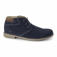 TOR Mens Suede Leather Desert Boots Navy