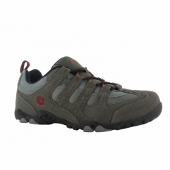 QUADRA CLASSIC Mens Walking Shoes Charcoal/Black/Red