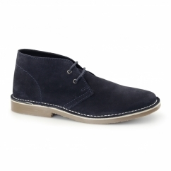 COLIN Mens Suede Leather Desert Boots Navy