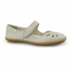 N249 Ladies Leather Mary Jane Shoes Grey