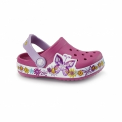 CROCBAND BUTTEFLY KIDS Girls/Unisex Clogs Candy Pink