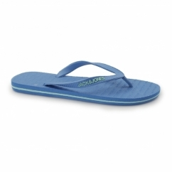 JJBASIC Mens Toe Post Flip Flops Methyl Blue