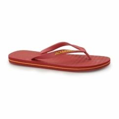 JJBASIC Mens Toe Post Flip Flops Barbados Cherry