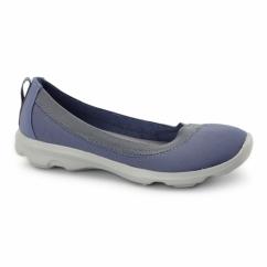 BUSY DAY STRETCH FLAT Ladies Walking Trainers Bijou Blue
