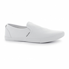 SPIDER Mens Canvas Loafers Bright White