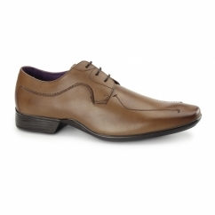 NEWTON Mens Leather Derby Shoes Brown
