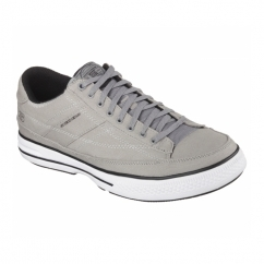 ARCADE CHAT MEMORY Mens Canvas Lace Up Shoes Grey