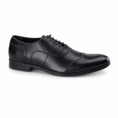 MESSINA 2 Mens Leather Oxford Brogues Black