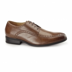 REGENT Mens Leather Oxford Smart Shoes Tan