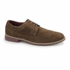 FADDEN 2 Mens Suede Brogue Desert Shoes Brown