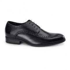 REGENT Mens Leather Oxford Smart Shoes Black