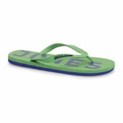 JJLOGO Mens Toe Post Flip Flops Fern Green