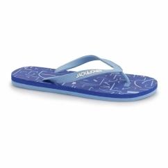 JJTECH Mens Rubber Toe Post Flip Flops Victoria Blue