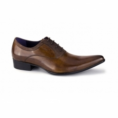 ROSSI II Mens Cuban Heel Shoes Tan