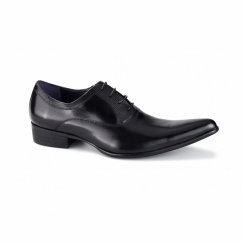 ROSSI II Mens Cuban Heel Shoes Black