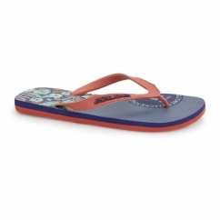 JJSPLIT Mens Rubber Toe Post Flip Flops Deep Cobalt