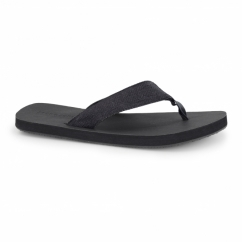 JJTYBONE Mens Leather Toe Post Flip Flops Anthracite