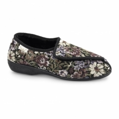 EILEEN Ladies Touch Fasten Floral Slippers Multi