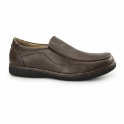ANDREW Mens Casual Slip On Loafers Brown