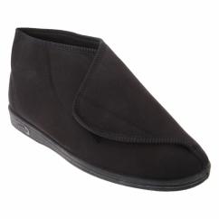 KEN Mens Nylon Velcro Slippers Black