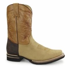 EL PASO Unisex Leather Cowboy Boots Brown