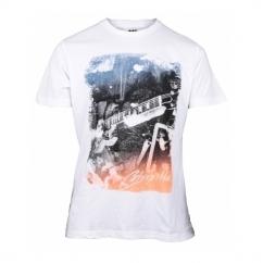 JAM Mens Faded Printed T-Shirt White/Multi