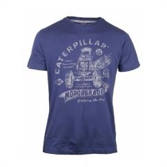 AUTO PATROL Mens Printed T-Shirt Abyss Blue