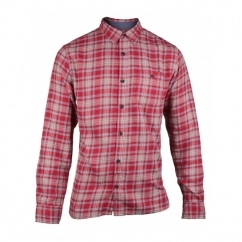 BRADLEY Mens Long Sleeve Check Shirt King Red