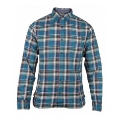 BRADLEY Mens Long Sleeve Check Shirt Park Blue