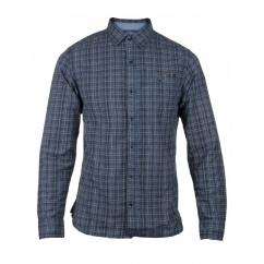 RADFORD Mens Slim Fit Long Sleeve Shirt Plaid Blue