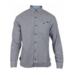 RADFORD Mens Slim Fit Long Sleeve Shirt Stripe Grey