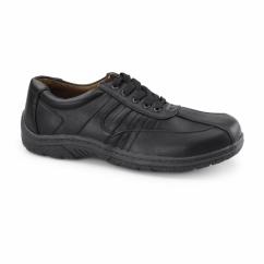 DAN Mens Lace Up Trainer Shoes Black