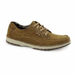 RYDER Mens Nubuck Casual Trainers Tan