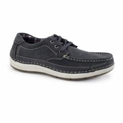 RUBBLE Mens Nubuck Lace Up Shoes Navy