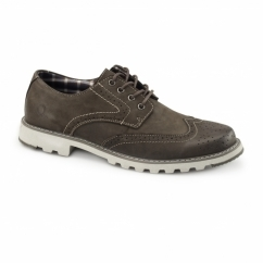 CHASE Mens Nubuck Derby Brogues Coffee
