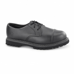 REGENT CS Unisex Steel Toe Derby Shoes Black