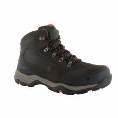 STORM WP Mens Hiking Boots Chocolate/Orange
