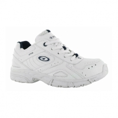 XT115 Junior Lace Up School Trainers White/Navy