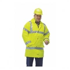 HI-VIZ Fluorescent Reflective Waterproof Jacket Yellow
