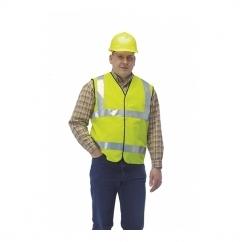 HI-VIZ Fluorescent Reflective Waistcoat Yellow