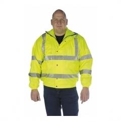 HI-VIZ Fluorescent Waterproof Bomber Jacket Yellow