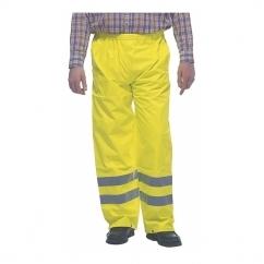 HI-VIZ Fluorescent Waterproof Over Trousers Yellow
