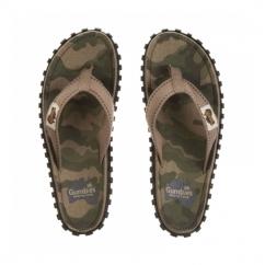 ISLANDER Mens Canvas Flip Flops Camouflage
