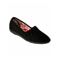AUDREY Ladies Slip On Full Slippers Black