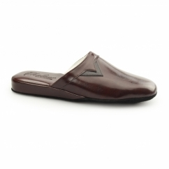 PIERO Mens Mule Comfort Slippers Bordo