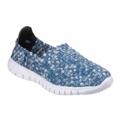 RAFT Ladies Slip-On Walking Trainers Light Blue